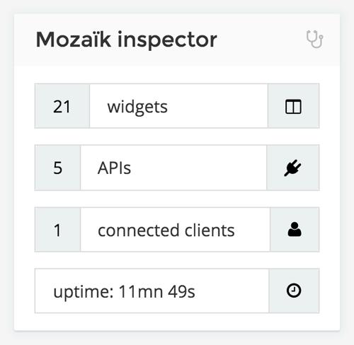 Mozaïk inspector widget
